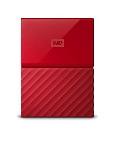Western Digital WDBYFT0040BRD-EEEX Externe Festplatte My Passport Exclusive Edition 4TB rot