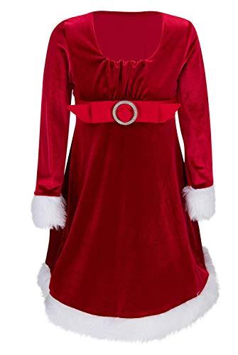 GlitzerEngel 2020 Weihnachtskleid rot Gr. 98-164 (110)