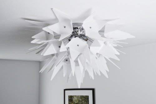Deckenleuchte Douala, Deckenlampe aus Metall/Kunststoff in Chrom/Weiß, 3 x G9-Fassung, 33 Watt, stylisches Design mit Lichteffekten