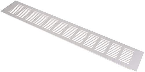 N /A Rejilla de ventilación rectangular de acero inoxidable para repuesto de barco marino (80 x 600 mm)
