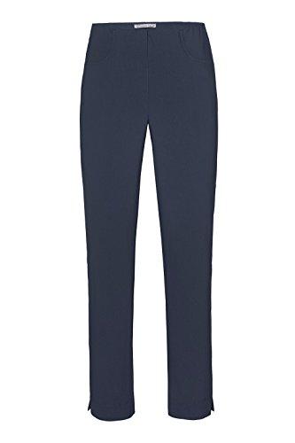 Stehmann-Stretch LOLI 742-mit EXTRA-Fashion Armreif-viele Farben-Wie Ina 740 nur unten Enger-Schmale Pullon Hose mit Schlitz, Hosengröße:44, Farbe:Marine - dunkelblau