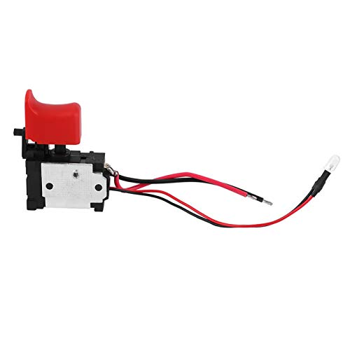 Drill Switch, Plastic + Metal Black Adjustable Speed CW/CCW Electric Drill Trigger Switch 7.2V-24V DC