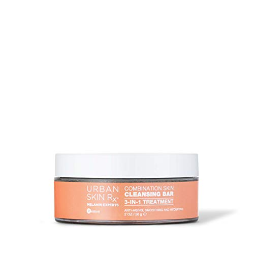 Urban Skin Rx Combination Skin Cleansing Bar | 3-in-1 Daily Cleanser, Exfoliator, and Mask Smooths, Hydrates, + Improves the Appearance of Skin Tone + Texture, Formulated with Salicylic Acid | 2.0 Oz
