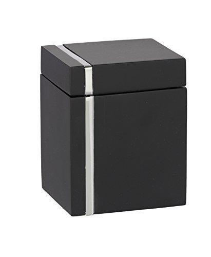WENKO 20465100 Universaldose Noble Black - Kosmetikdose, Polyresin, 8 x 9.9 x 6.9 cm, Schwarz