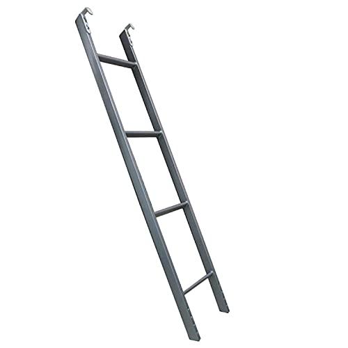 LXLA- Escalera Para Litera Con Gancho - 4/5 Pasos, Ajustable Escaleras Para Cama Tipo Loft Para Adultos Adolescentes Niños Dormitorio, RV Cuarto De Los Niños Casa, Plata (Size : 1.16m/3.8ft)
