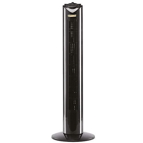 Bestlivings Turmventilator mit Oszilation (Schwarz) Extra Leise - Standventilator 45W - Tower Fan 82 cm - Towerventilator mit 3 Geschwindigkeits Stufen
