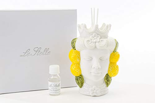 Bombonera perfumada cabeza de marrón mujer limón con estuche para regalo de...