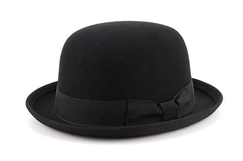 Generic Generic Schwarz Wollfilz Bowler Derby Hat, Schwarz