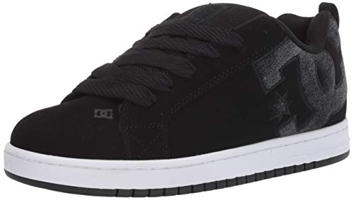 DC Men's Court Graffik SE Skate Shoe, Black Used, 6 D M US