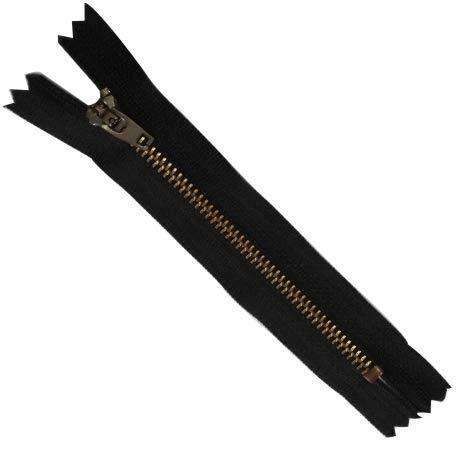 FILOUFACE Fermeture Eclair 10 cm Coloris Noir pour Pantalon Jeans Maille métal 5 mm