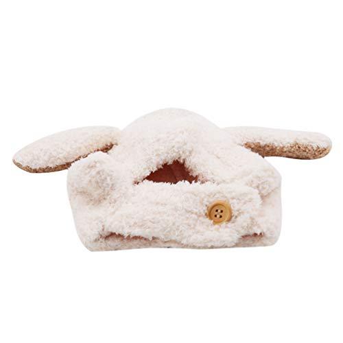 KYMLL Baby Kinder Warme Winter Hüte Dicke Woolen Earflap Hood Hut Schals mit Ohren