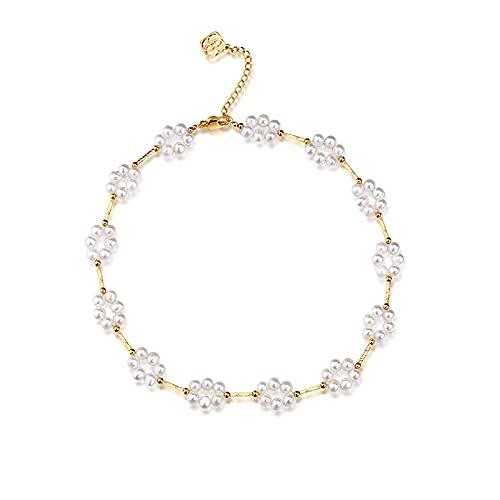 Collar Mujer Collar de Perlas Female Baroque Pearl Temperamy Light Lighty Design Design Joyería Cadena de clavícula Collares para Mujeres Collar Colgantes