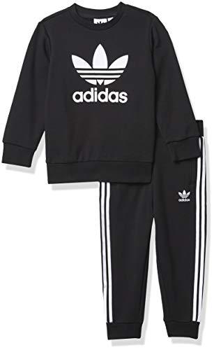 adidas Originals baby boys Crew Set Sweater, BLACK/WHITE, 4T US