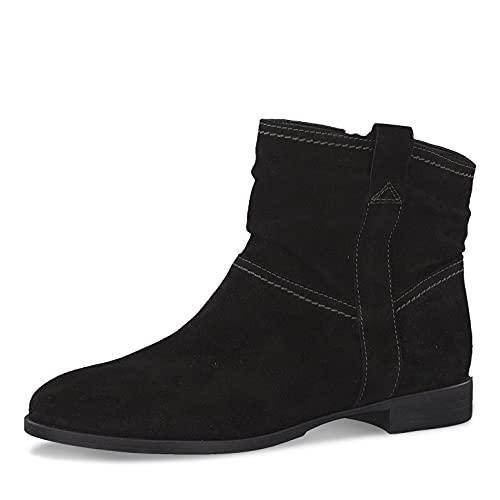 Tamaris Damen Stiefeletten, Frauen Ankle Boots,uebergangsschuhe,uebergangsstiefel,knöchelhoch,reißverschluss,Boots,Stiefel,Black,40 EU / 6.5 UK