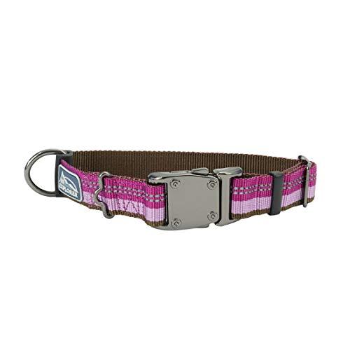 Coastal - K-9 Explorer - Reflective Adjustable Dog Collar, Orchid, 5/8' x 8'-12'