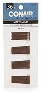 Conair Styling Essentials Mini Pins, Brown