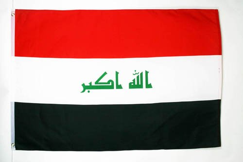 AZ FLAG Flagge IRAK 90x60cm - IRAKISCHE Fahne 60 x 90 cm - flaggen Top Qualität