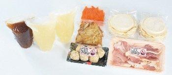 九戸屋肉店 南部かしわ地鶏 せんべい汁セット -クール冷凍-