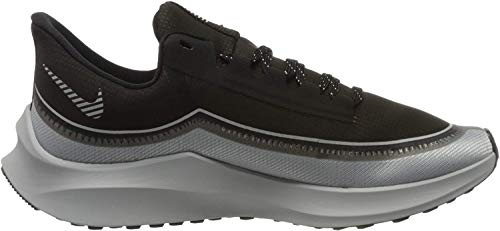 Nike Herren Zoom Winflo 6 Shield Laufschuhe, Nero Black Reflecting Silver Wolf Grey MTLC Platinum 001, 43 EU