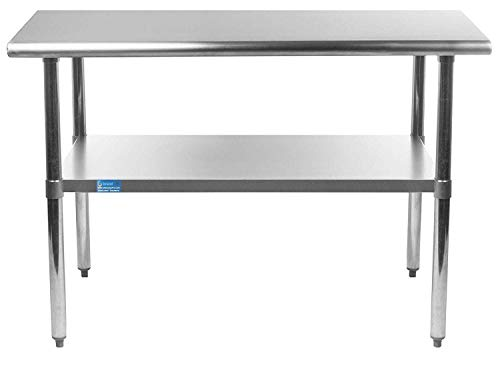 "18"" X 30"" AmGood Stainless Steel Work Table 