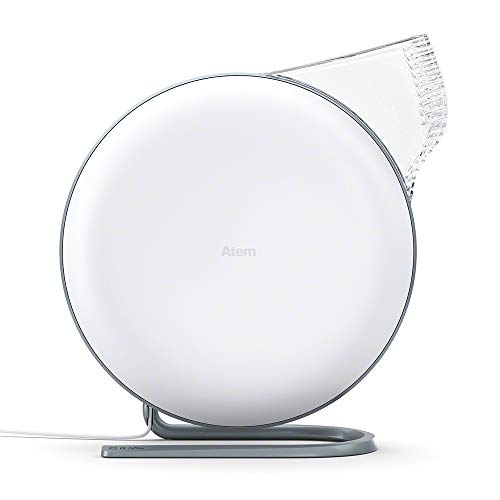 IQAir [Atem Desk Personal Air Purifier [HyperHEPA Filter, up to 150 sq.ft. coverage] Bacteria, Viruses, Airborne Infections, Allergies, Pets, Asthma, Pollen, Dust; Swiss Made (White)