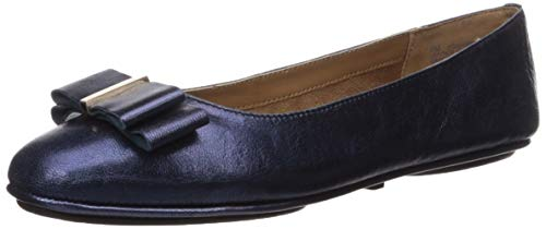 Aerosoles Women's Conversation Ballet Flat, Dark Blue Leather, 10 M US