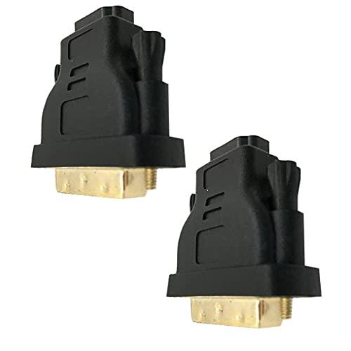 CUCUFA Cable Adaptador Convertidor, Profesional De Dvi-i a Hdmi Adaptador Macho a Hembra Adaptador Cable De Chapado En Oro Hdmi Adaptador Convertidor