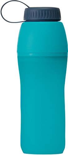 Platypus Meta Faltbare Wasserflasche für Camping und Wandern, Aquamarin, 1,0 Liter