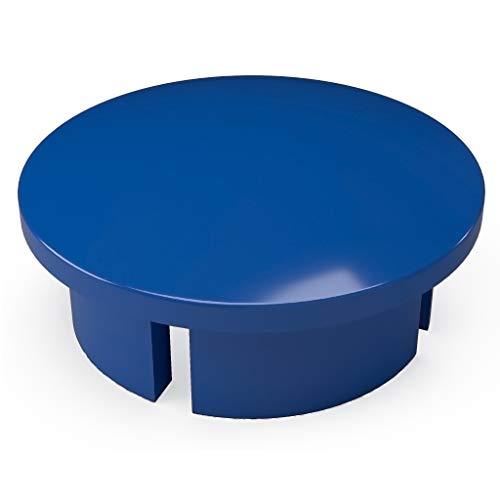 "FORMUFIT F001IDC-BL-10 PVC Internal Domed End Cap, Furniture Grade, 1"" Size, Blue (Pack of 10)"