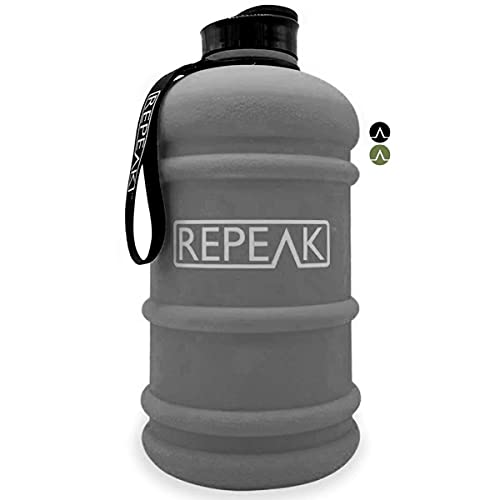 Large 2.2 Litre Sports Water Jug - BPA Free Bottle, Quick Flow Cap, Ideal for Gym, Training, Hiking & Outdoor use - for Men & Women (Matte Grey)