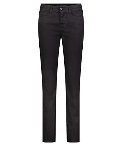 MAC JEANS Damen Angela_0380L Straight Jeans, Schwarz, W44/34L