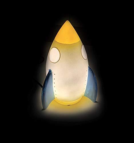 FUN HOUSE 713115 713116 Espace Fusee Lampe d'ambiance pour Enfant, Gris