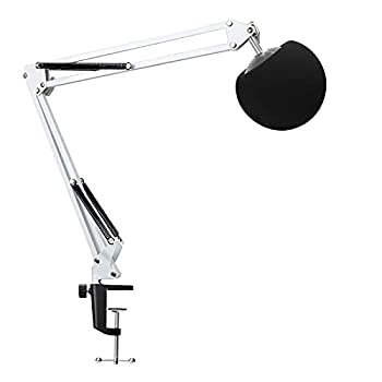 YOUSHARES Mic Stand with Pop Filter - Microphone Boom Arm Stand with Foam Cover Windscreen Compatible with white Blue Snowball iCE Mic by YOUSHARES