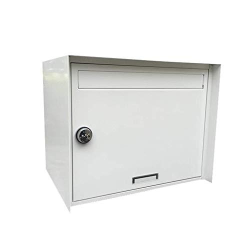 QI-shanping An der Wand befestigter Briefkasten, Großraum-Passwortsperre, Multifunktions-Posteingang, Postfach mit sicherem Briefkasten, Dekoration for Innen und Außen / 15,7 x 12,2 x 13,4 Zoll