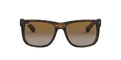 Ray-Ban Justin Classic Gafas de sol, Marrón (Tortoise Brown Gradient), 55 mm Unisex-Adulto