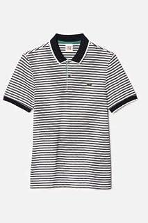 Lacoste Live GREEN Striped Slim Fit Men Polo PH1345