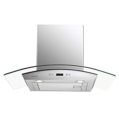 Cavaliere-Euro 30W in. Tempered Glass Canopy Wall Mounted Range Hood