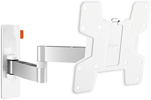 Wall 3145 Blanco, Soporte de Pared para TV 19-43 Pulgadas, Inclinable y Giratorio 180º, Máx 15 kg y con Sistema VESA Máx. 200 x 200