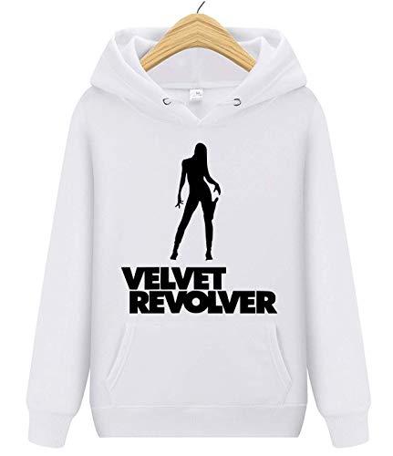 Monolata Velvet Revolver Unisex Adult Pullover Hooded Sweatshirt for Mens and Women White XXL