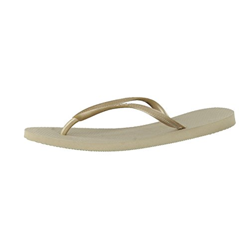 Havaianas Slim, Chanclas Mujer, Oro (SandGrey/Light Golden), 37/38