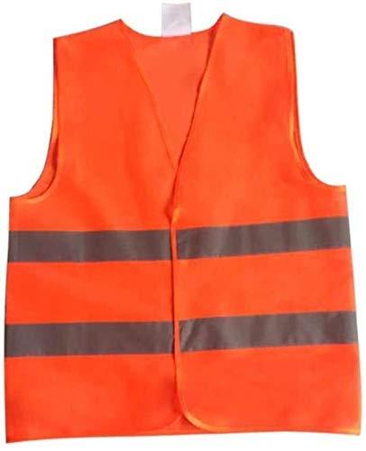 Multifuncional ropa reflectante chaleco reflectante de seguridad reflectante fluorescente chaleco anaranjado color al aire libre Ropa de seguridad Ejecución de monos de seguridad reflectante de alta v