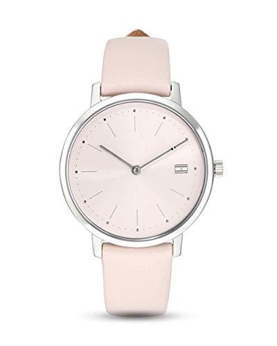 Tommy Hilfiger Damen Analog Quarz Uhr mit Leder Armband 1781925