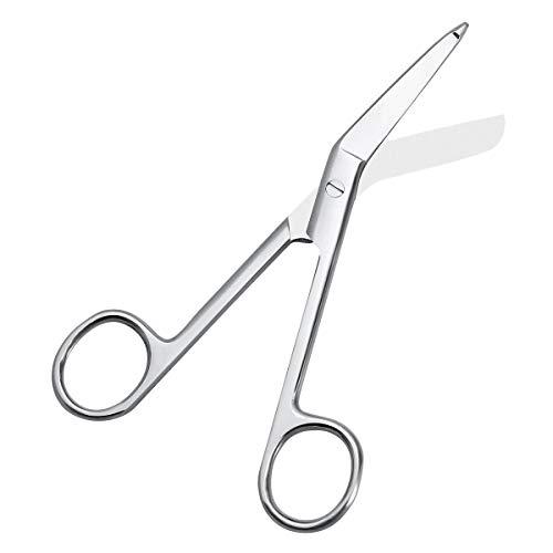 Healifty, Forbici chirurgiche per uso medico in acciaio inossidabile, 14 cm, per infermieri, primo soccorso, bendaggi e utilizzo a casa