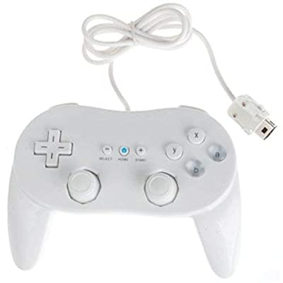Assecure White Classic Pro Controller For Nintendo Wii Remote Wireless joypad gamepad