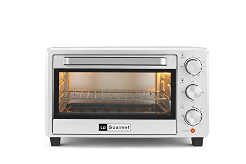 La Gourmet Toaster Oven - 21L Toast Bake Broil & Grill, 60mins timer and accessories