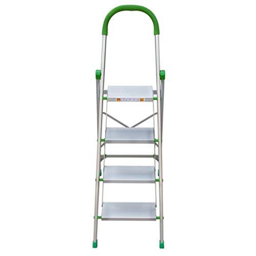 Escalera Taburete Plegable Escalera Doméstica Aleación De Aluminio Ingeniería Telescópica Engrosamiento Escalera Escalera Multifunción Interior Escalera Paso Cuatro Pasos