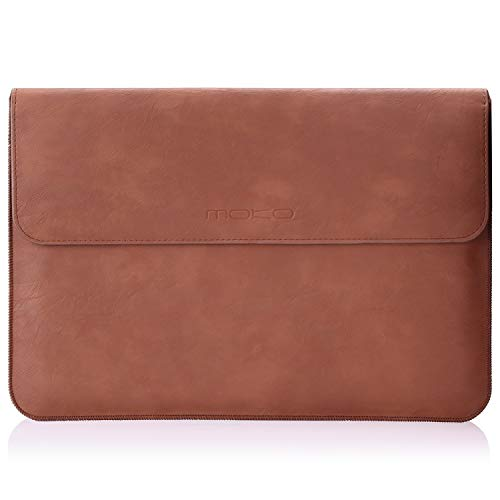"MoKo Funda Compatible con Laptop 13.3 Pulgadas, PU Bolsa Protectora para MacBook Air 13-Inch Retina, MacBook Pro 13"", DELL XPS 13, Samsung Notebook 13.3 - Marrón"