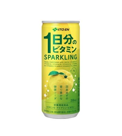 伊藤園 1日分のビタミン スパークリング 250g 缶 30本×2ケース