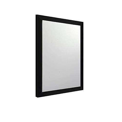 DRULINE Wandspiegel Fabelhaft Wanddekoration zum aufhängen aus Kunststoff als Dekoration für das Badezimmer | Schlafzimmer | Wohnzimmer | F0016080 | L x B x H 34 x 1.5 x 44 cm | Schwarz