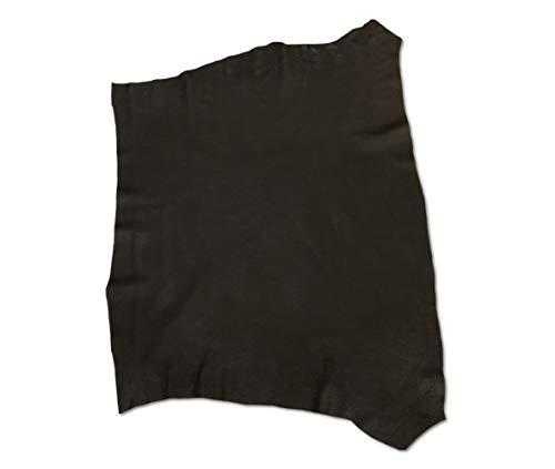 Zerimar Piel Cuero Napa | Retales de Piel para Manualidades | Piel para Artesanos | Color: Negro | Medidas: 85x60 cm